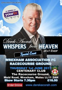 Derek Acorah Centenary Club Wrexham AFC @ Centenary Club Wrexham AFC | Wales | United Kingdom