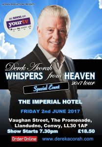 Derek Acorah Imperial Hotel Llandudno @ The Imperial Hotel | Wales | United Kingdom