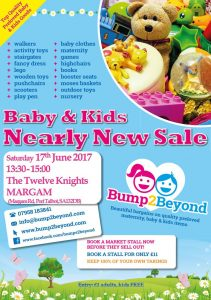 Bump2Beyond Baby & Kids NEARLY NEW SALES in Margam @ The Twelve Knights  | Wales | United Kingdom
