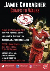 An evening with Jamie Carragher @ Parc Eirias | Wales | United Kingdom