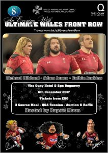 Evening of Rugby with the Ultimate Front Row @ Quay Hotel & Spa | Deganwy | Wales | United Kingdom