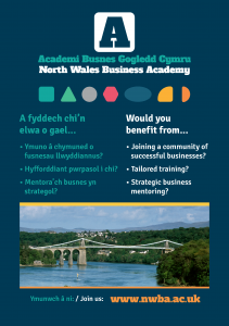 NWBA | SBA | Strategic Business Analysis | Training @ UCCL, Llandrillo College | Wales | United Kingdom