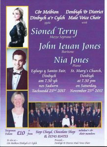 Denbigh Male Voice Choir Annual Concert 2017 starring Sioned Terry, Mezzosoprano, and John Ieuan Jones, Baritone @ St Mary's Church | Wales | United Kingdom