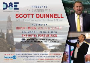 An Evening with Scott Quinnell @ Hotel Portmeirion | Wales | United Kingdom