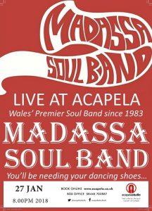 Madassa Soul Band in Concert in Cardiff @ Acapela Studio | Pentyrch | Wales | United Kingdom