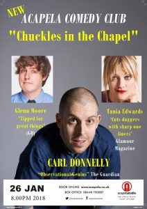 "Acapela Comedy Club - ""Chuckle in the Chapel"" @ Acapela Studios 