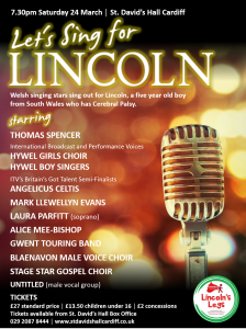 Lets Sing For Lincoln @ St. David's Hall | Wales | United Kingdom