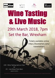 Wine Tasting & Live Music @ Set The Bar | Wales | United Kingdom