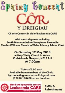Côr Y Dreigiau Spring Concert @ Holy Trinity Chirch in Wales, | Caerleon | Wales | United Kingdom