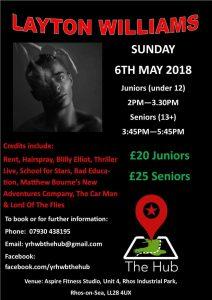 Layton Williams Musical Theatre Dance Workshop (Under 12's) @ Aspire Fitness Studio   Rhos on Sea   Wales   United Kingdom