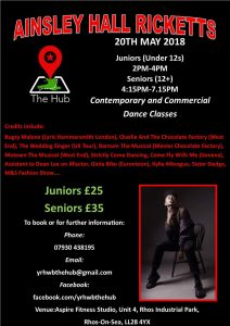 Ainsley Hall Ricketts - Contemporary And Commercial dance classes (Seniors 12+) @ Aspire Fitness Studio | Rhos on Sea | Wales | United Kingdom