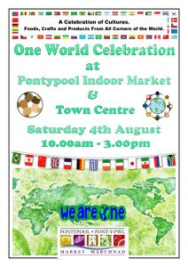 One World Celebration Pontypool Market Traders and Friends @ Pontypool Indoor Market | Wales | United Kingdom