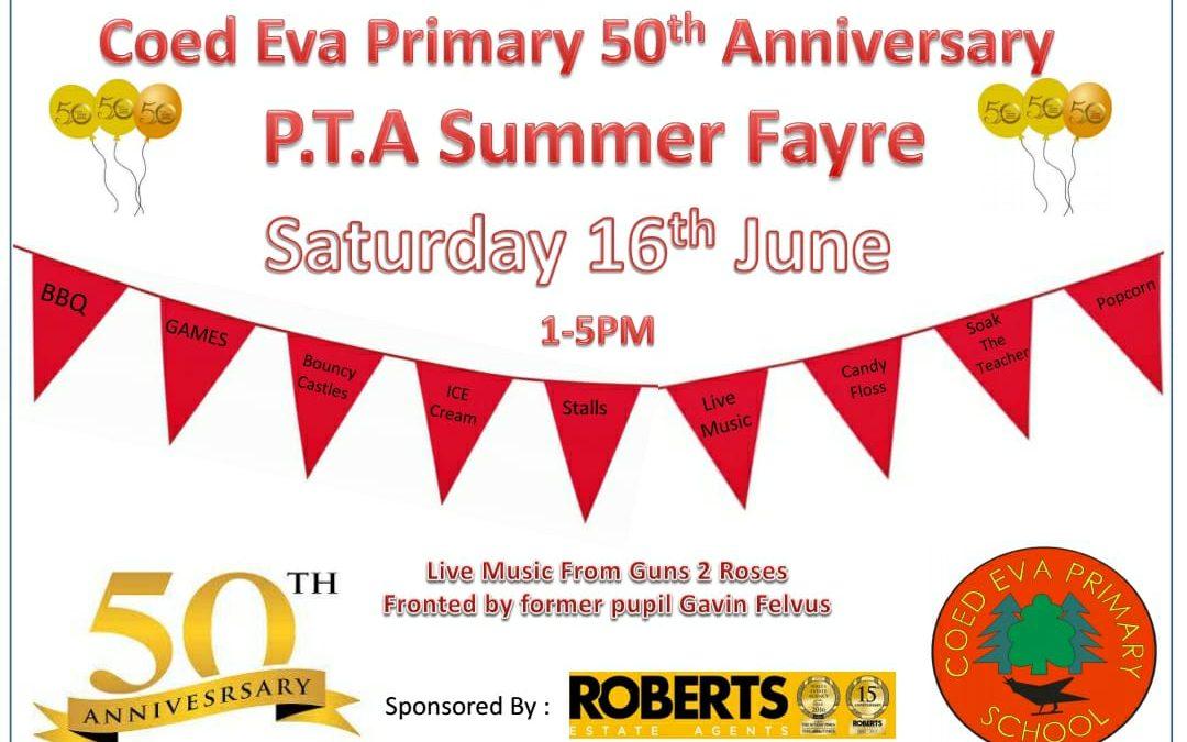 Coed Eva Primary 50th Anniversary PTA Summer Fayre