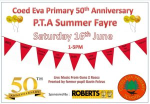 Coed Eva Primary 50th Anniversary PTA Summer Fayre @ Coed Eva Primary | Wales | United Kingdom