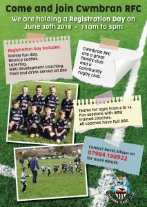 Cwmbran RFC Mini Juniors Registration Day @ Cwmbran RFC | United Kingdom