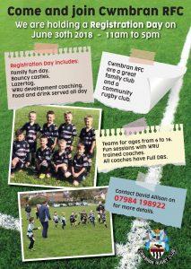 Cwmbran RFC Mini Juniors Registration Day