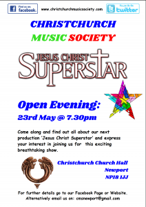 Jesus Christ Superstar Open Evening @ Christchurch Church Hall | Caerleon | Wales | United Kingdom