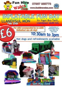 Inflatable Fun Days for kids in Ceredigion @ Ysgol Bro Teifi